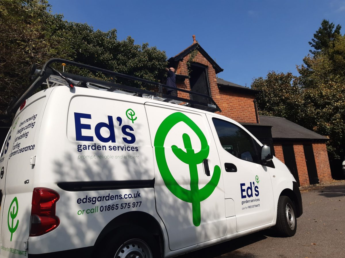 Ed's Garden Services Franchise Van